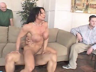 cuckold watches his muscled..