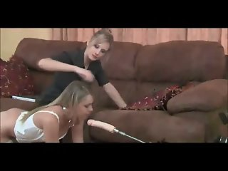 Blondes In Stockings Machine..